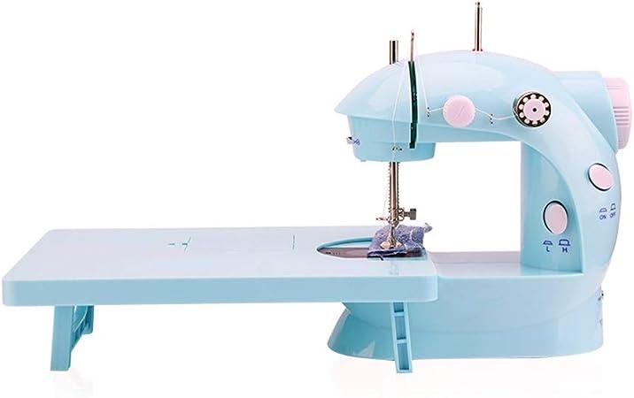 GYZ Máquina de Coser, pequeño hogar, Mini portátil, Manual, Manual, máquina de Corte automático, Pedal Vintage Mini (Color : Blue): Amazon.es: Hogar