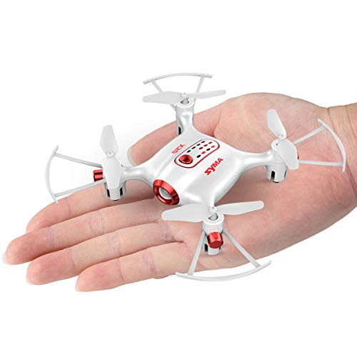 Newest Syma X20 Mini Pocket Drone Headless Mode 2.4Ghz Nano LED RC Quadcopter Altitude Hold White