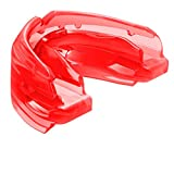 Shock Doctor Double Braces Strapless Mouth Guard, Adult, Red