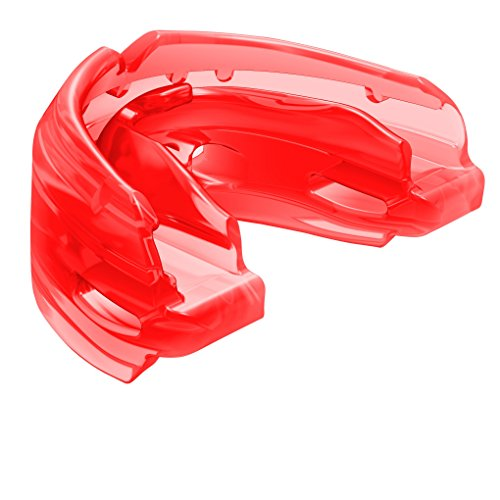 Shock Doctor Double Braces Strapless Mouth Guard, Adult, Red (Red Lacrosse Helmet Accessories)