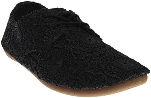 Sanuk Women's Bianca Crochet Shoes Black/Black (Bianca Footwear)
