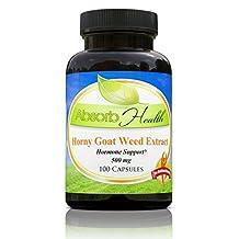 Horny Goat Weed Extract (Epimedium) 10:1 | 500mg | 100 Capsules | Sexual Health
