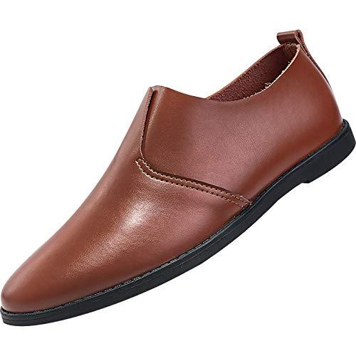Zapatos Populares Zapatos Oxford Zapatos de conducción Informal Mocasines para Hombre Zapatos Planos Casuales de Punta