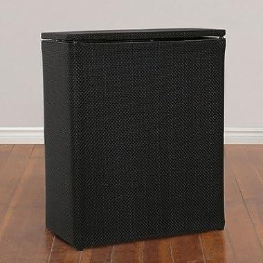 1530 Lamont Home Basketweave Upright Hamper, Black