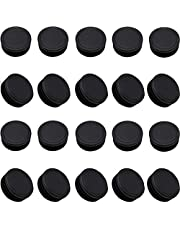 """1 1/4"""" Round Tubing End Caps,20 PackTubing Post End Cap, Dia.32mm Black Plastic Round Plugs, Chair Glide Floor Protector"""