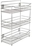EverEx™ Stainless Steel Spice 3-Tier Layer Fruits & Vegetable Onion Trolley Container Organizer Organiser/Basket for Home (Multipurpose Kitchen Storage Shelf Shelves Holder Stand Rack)