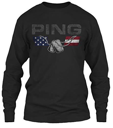 Ping Mens Long Sleeve - Ping Family. L - Black Long Sleeve Tshirt - Gildan 6.1oz Long Sleeve Tee