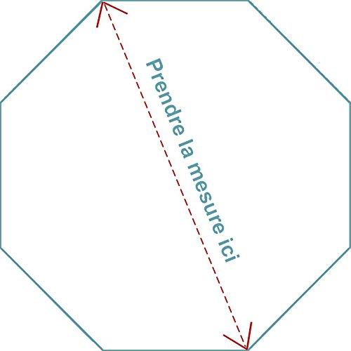 Matelas pour parc octogonal 110X110