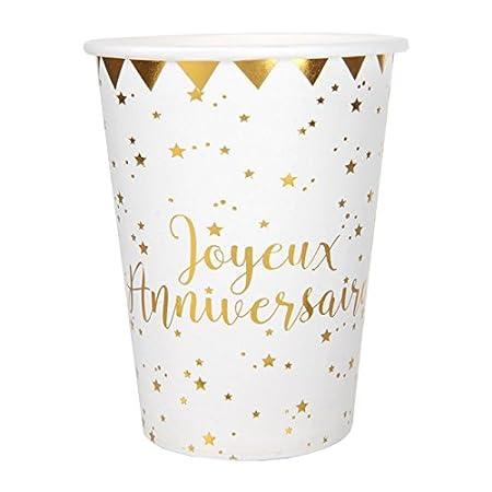 1001decotable - 100 Vasos de cumpleaños con Texto Happy ...