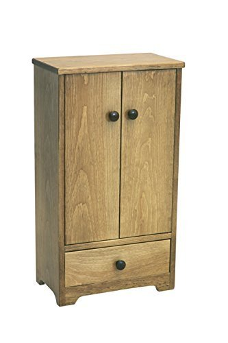 Amish-Made Wooden Doll Tall Wardrobe, Natural Harvest Finish by AmishToyBox.com