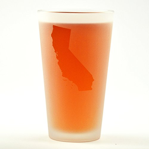 California State Engraved Pint Glass