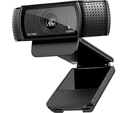 Logitech C920 HD Pro - Webcam Full HD (1080pm, sensor de 15 Mp), color negro