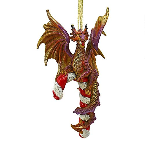 Design Toscano Cane and ABEL The Dragon 2017 Holiday Ornament, Single, Multicolored (Trees Design Christmas Goblet)