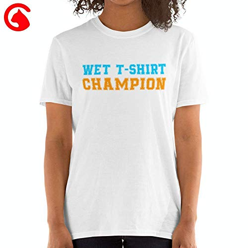 CATIX Wet T Shirt Champion Contest - Funny Cute Gift Boobies Boob Lover Unisex Softstyle T-Shirt ()