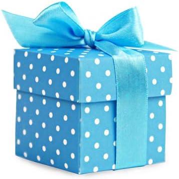 10 pequeñas cajas de regalo, color azul: Amazon.es: Hogar