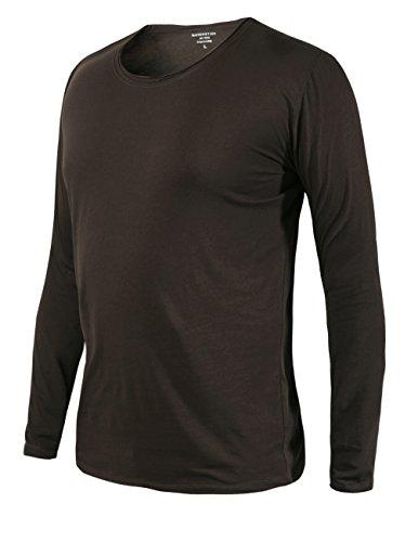 Match K|G Mens Basic T-shirts Series Crewneck/Long sleeve/Slim fit #ST801(US 2XL (Tag size 4XL),T603_Coffee)