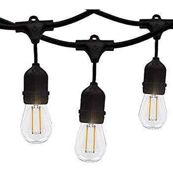 Amazon led outdoor indoor edison style string lights 48ft led outdoor indoor edison style string lights 48ft long string light with 15 aloadofball Images