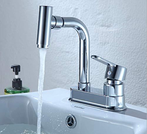 Traditional Bath Filler Mixer Tap Designer Modern Chrome Finish Double Handle Swivel Spout Kitchen Sink Mixer Taps