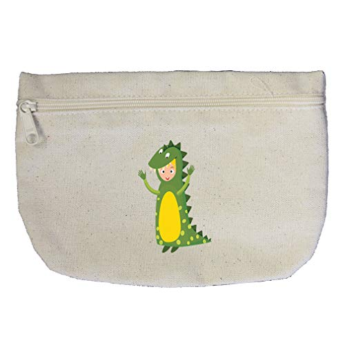 Costume Dinosaur Cotton Canvas Makeup Bag Zippered