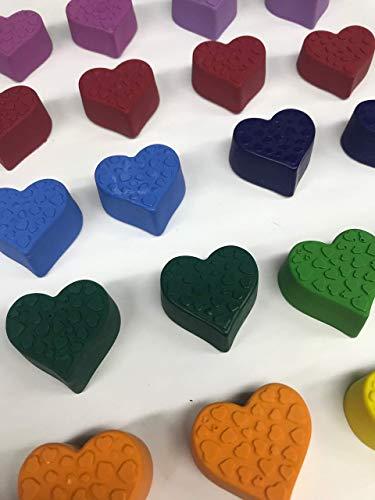 Crayon Hearts Bulk Valentine's Gifts, Mini Hearts, Classroom, Teacher, Birthday -