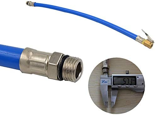 Quick Connect Liyafy 3Pcs Air Hose,40CM Air Compressor Hose with Solid Brass Coupler and Plug with Air Bleeder Valve,Blue