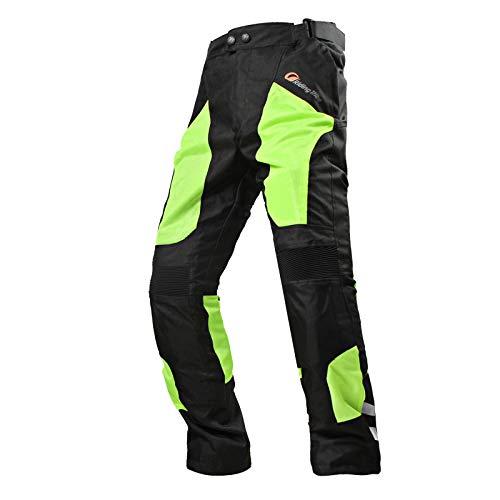 Ocamo Unisex Summer Motorcycle Cycling Pants Mesh Motorcycle Pants Waterproof Breathable Racing Pants dark green XL