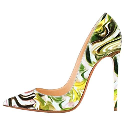 en de múltiples en Multicolor de charol las color de zapatos de mujeres Ciel punta Arc de tacón alto bombas 6zxnx
