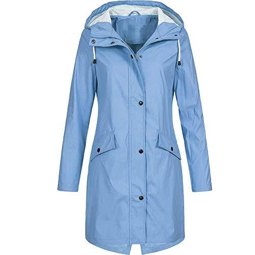 Zarachielly Coats Winter for Women Thick Overcoats Winter Warm Outwear Casual Jacket Coat(SkyBlue 4X-Large)