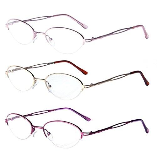 LianSan womens designer compact vintage fashion reading glasses with case prime multi pack 1.0 1.25 1 .5 1.75 2 00 2.25 2.50 2.75 3.0 3.25 3.5 4.0 L731 - Cartier Glasses Women