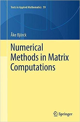 Numerical Methods In Matrix Computations por Åke Björck epub