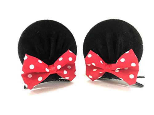 MeeTHan Mickey Mouse Ears Baby Elastic Headband Hair Clips Costume Accessory :M3 (MC Clip-L)