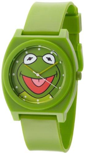 Muppets Men's MU1004 Kermit the Frog Dial Green Plastic Strap Watch (Miss Piggy Watch)