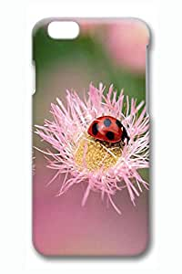 iPhone 6 Plus Case - Ladybug On A Pink Flower Hard Cell Phone Cover Case for 5.5 Inch iPhone 6 Plus