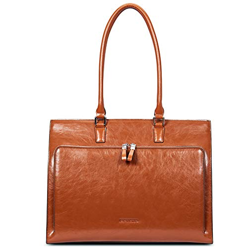 BOSTANTEN Leather Briefcase for