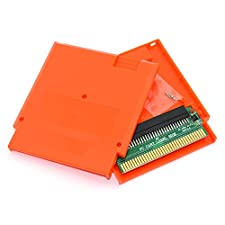 Cinpel Replacement Game Cartridge Shell With Famicom 60 Pin To 72 Pin Converter Card for Nintendo NES Orange