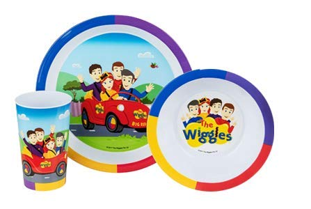 (The Wiggles 3 piece Mealtime Set including Plate, Bowl and Tumbler. BPA Free and Dishwasher Safe!)