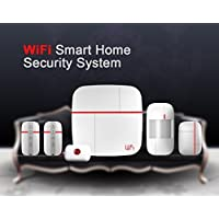 Eyes4u Wireless Wifi Android IOS APP Home Burglar Security Alarm System Detector with Medical Mergency Button
