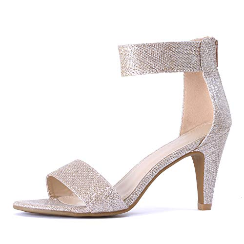 (Guilty Shoes - Elysa-1 Champagne Metallic, 7.5)