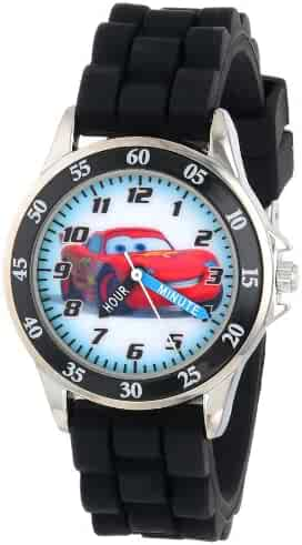 Disney Boy's Quartz Metal and Rubber Watch, Color:Black (Model: CZ1008)