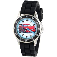 Kids' CZ1008 Time Teacher Watch with Black Rubber Band