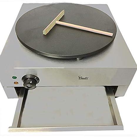 DAVLEX Comercial Crepe Máquina, Tortitas Fabricante Placa Calentadora, Freidora Eléctrica 400mm Diámetro: Amazon.es: Hogar