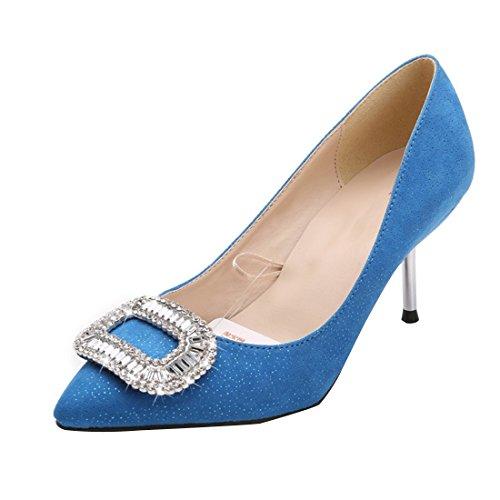 HooH Femmes Bling Diamonds Escarpins T253 Bleu 7HT1t0QxqA