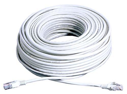 Cat5e Ethernet Patch Cable RJ45 COPPER - 150FT (WHITE) - WireShopper (Cable 150' Ethernet Cat5e)