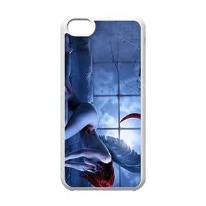 Iphone 5C Girl Phone Back Case DIY Art Print Design Hard Shell Protection FG037466