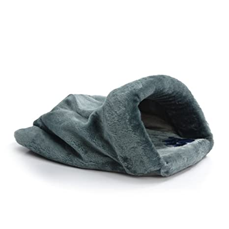 Cueva para gatos Sleeping Bag gris