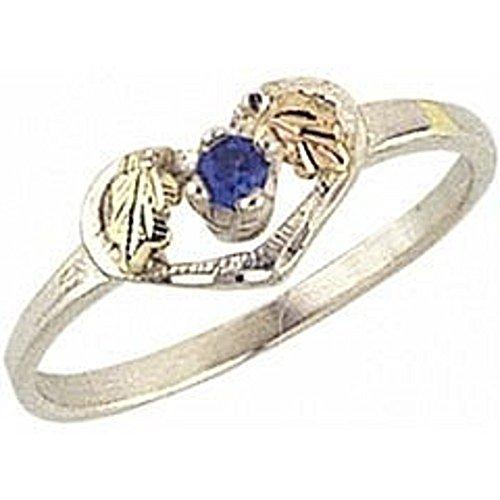 Black Hills Gold Heart Birthstone Ring