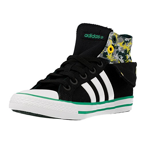 Adidas - Bbneo 3 Stripes CV Mid K - F39356 - Couleur: Noir - Pointure: 31.0