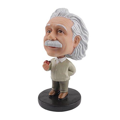 Doll Bobble Head (LYNDA SUTTON Albert Einstein Toy Little Einstein Bobblehead with Tobacco Pipe,Dashboard Bobbleheads/Doll Bobbleheads/Toy Collection)