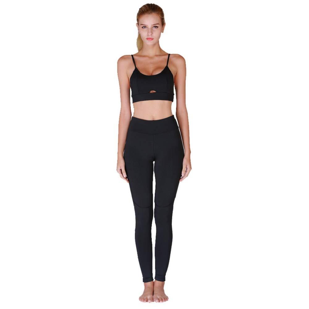 Set Frauen Yoga Laufleggings Skinny Weste Hose Stretch Hose Trainingsanzug YULAND Damen Trainingsanzug Winter Jogginganzug F/ür Frauen