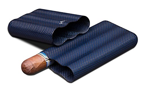 Visol Products Kevlar Lightweight Cigar Case, Holds 3 Cigars of Up to 58 Ring Gauge, Blue by Visol